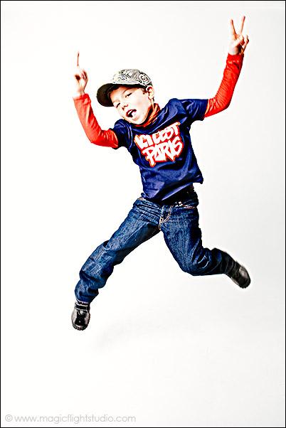 Saute, Portrait enfant en studio