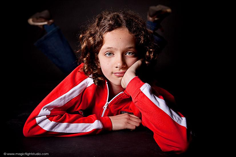 Portrait enfant en studio