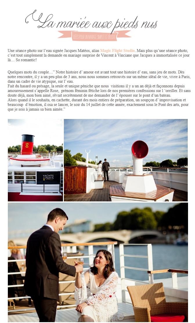 Parution web, photographe mariage 1