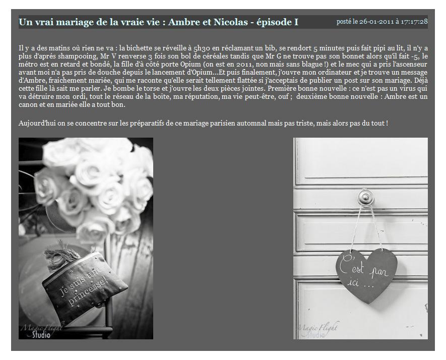 Parution web, photographe mariage 11