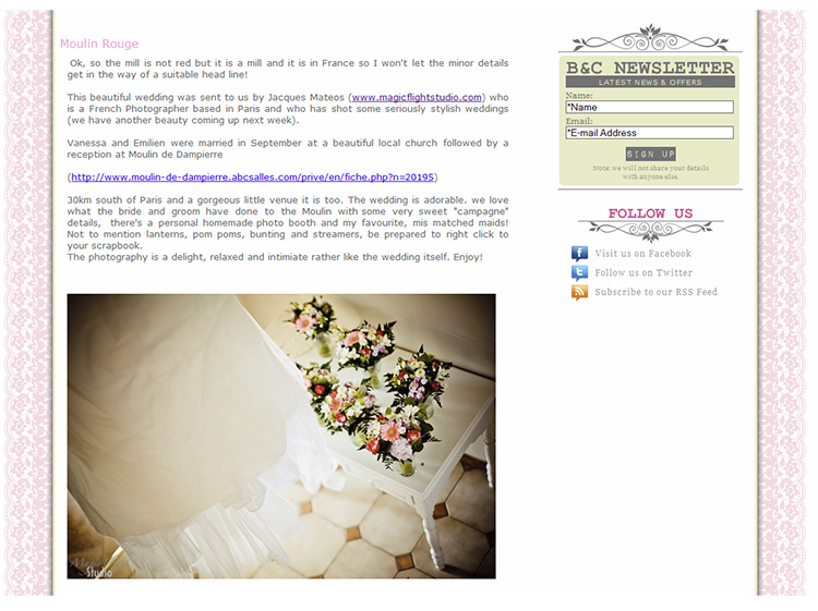 Parution web, photographe mariage 10