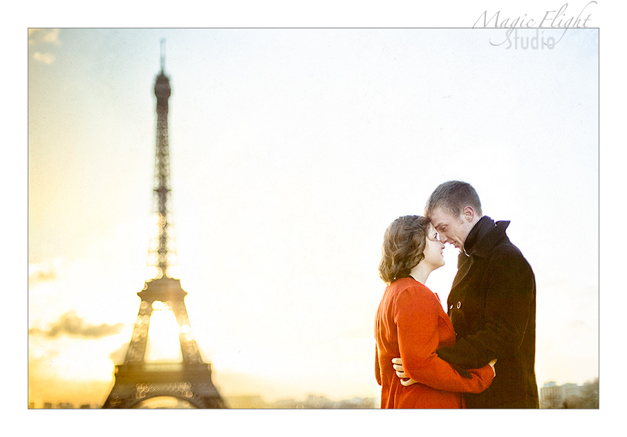 Katie & Ryan, engagement à Paris 9