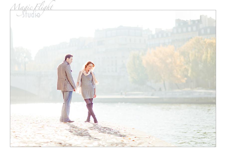 Sarah & Xavier, Engagement à Paris 1