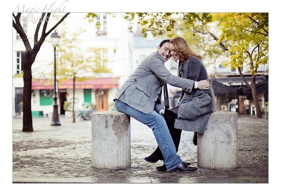 Sarah & Xavier, Engagement à Paris 4