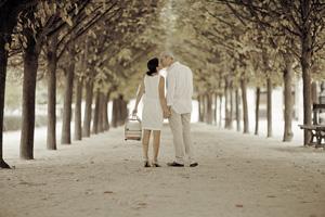 séance couple avant mariage vintage