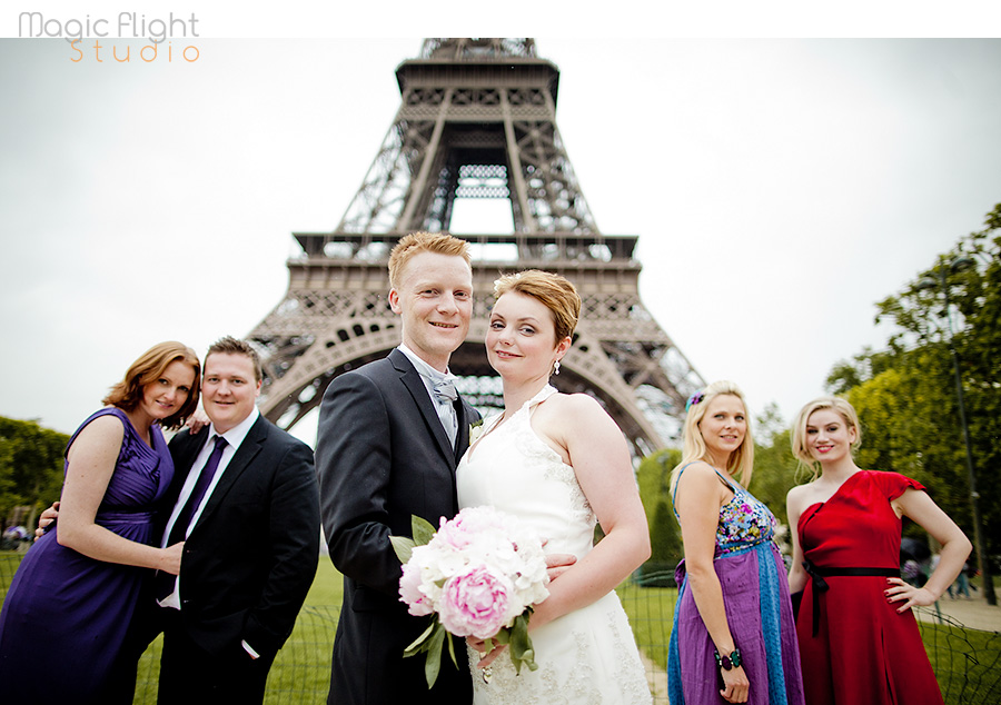 Siw & Christian, intimate wedding in Paris 1