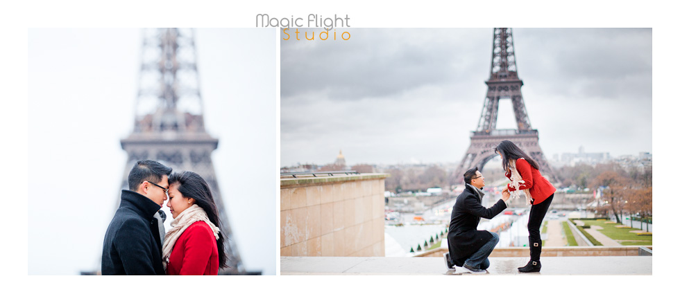 photos de couple à La tour eiffel