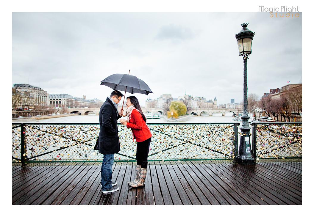 photos de couple pont des arts
