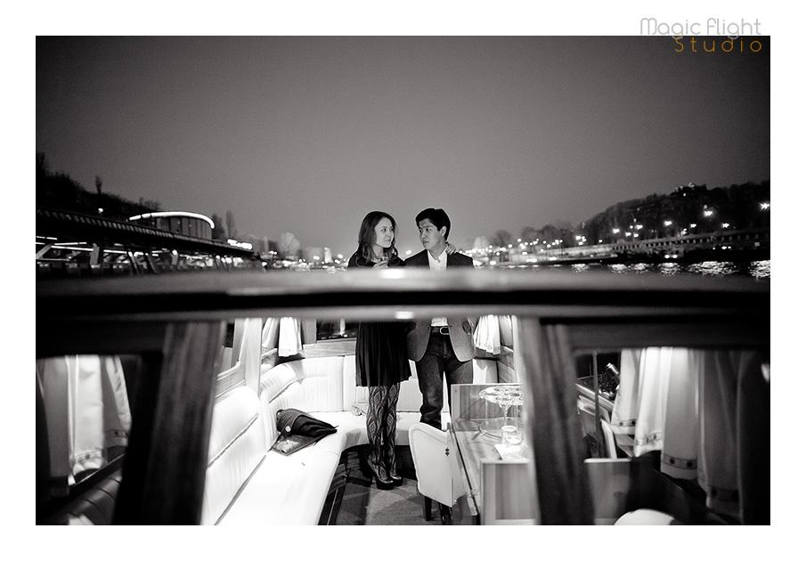 demande en mariage en bateau