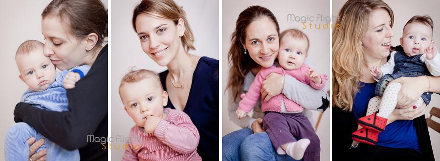 des photos d'enfant avec leurs mamans