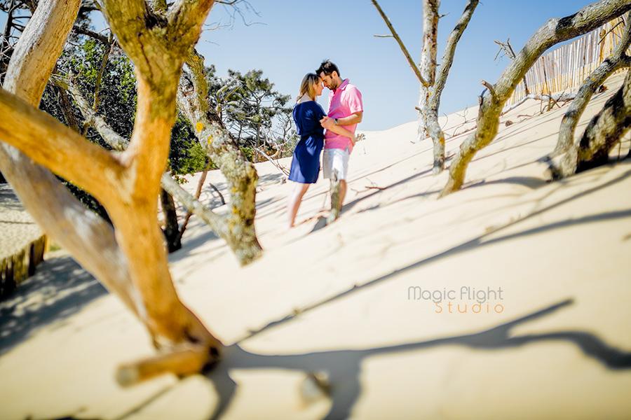 Laure & Fred, goût de vacances au Pyla avant le mariage...
