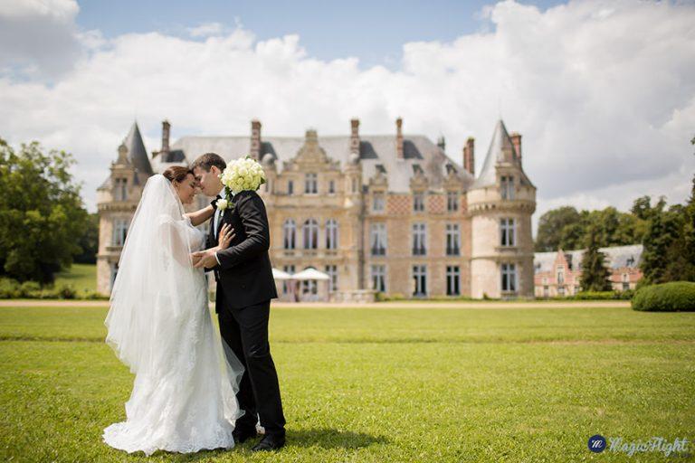 mariage intime au Chateau d'Esclimont. 5