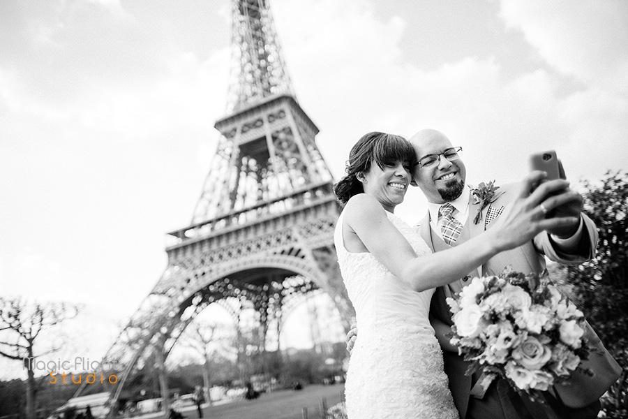 mariage intime à Paris en extérieur