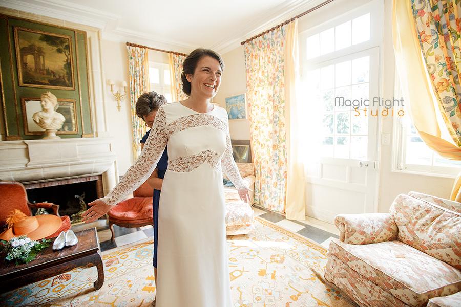 Les photo d'un mariage dans le loiret dans la maison familliale.