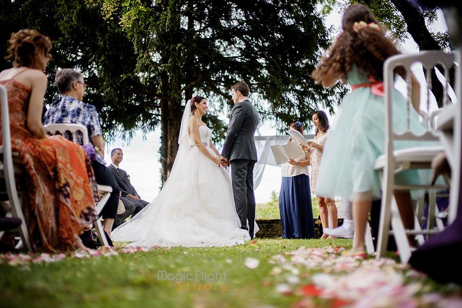 reportage mariage chateau chapeau cornu