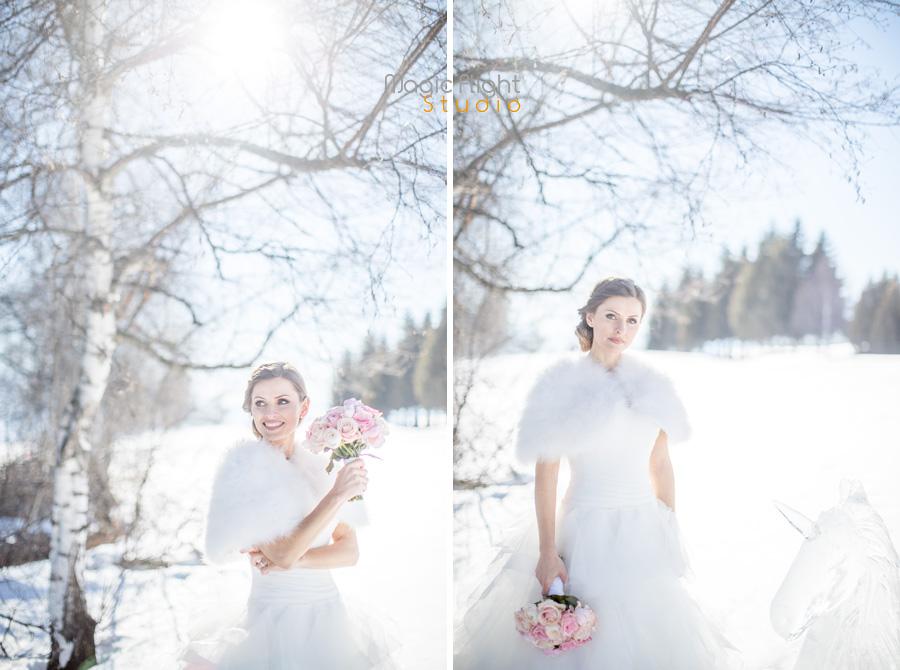 mariage dans la neige
