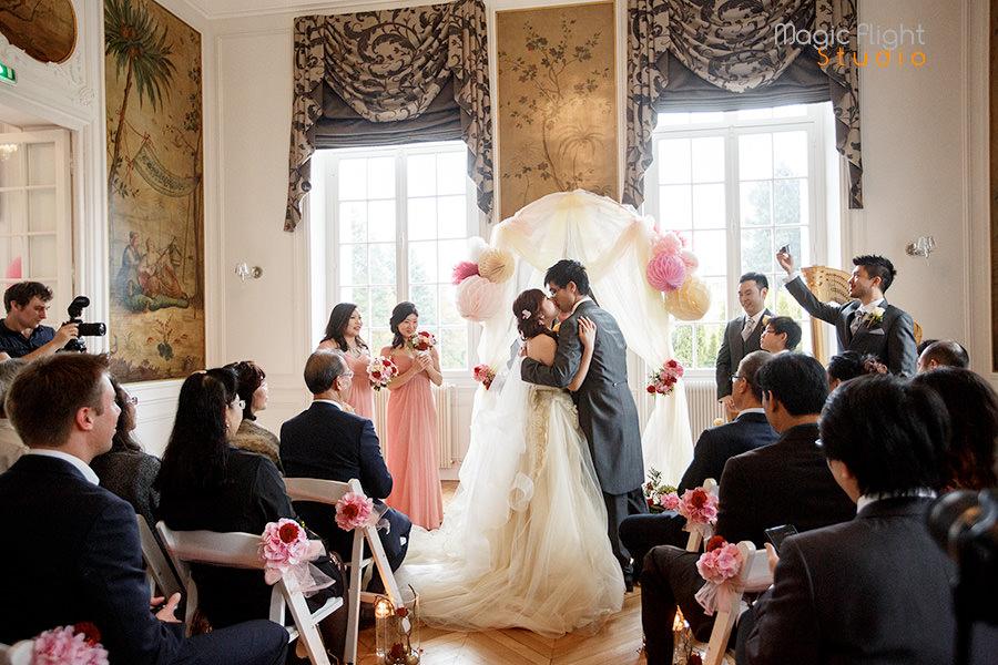 un reportage de mariage au chateau de la cazine