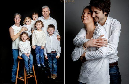 portrait de famille en studio