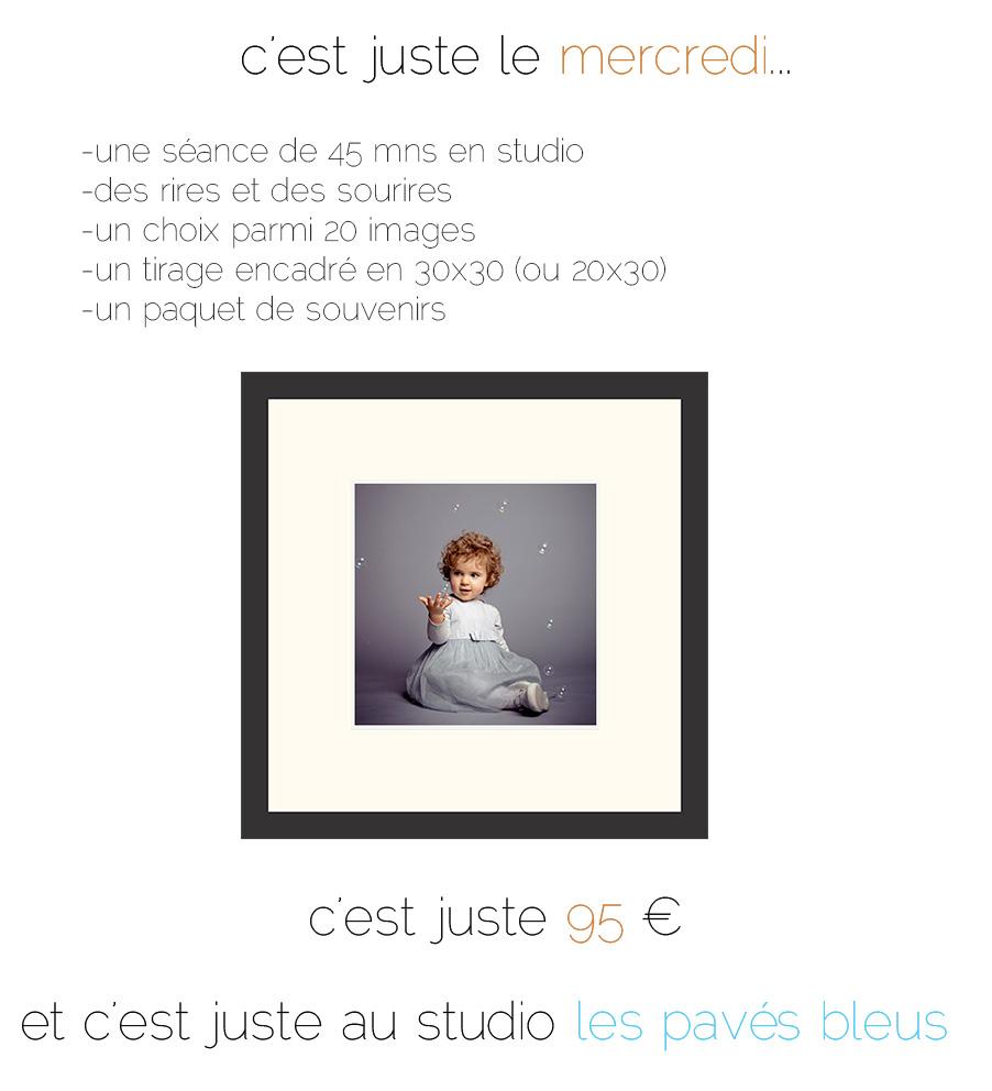offre exceptionnelle pour des portraits d'enfant en studio
