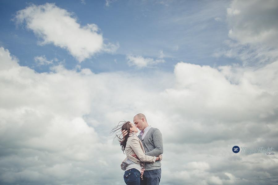 une séance de couple avant le mariage