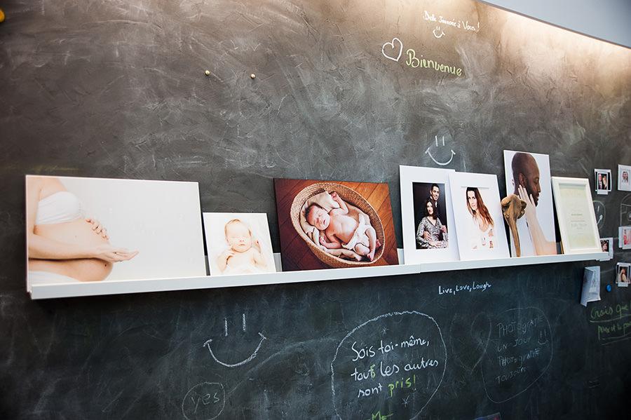 des photos de l'intérieur du studio Les pavés bleus
