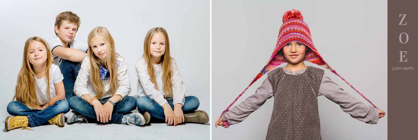 des photos d'enfant en studio à paris
