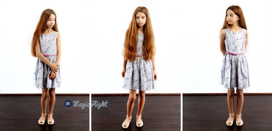 portrait d'enfant en studio pour agence