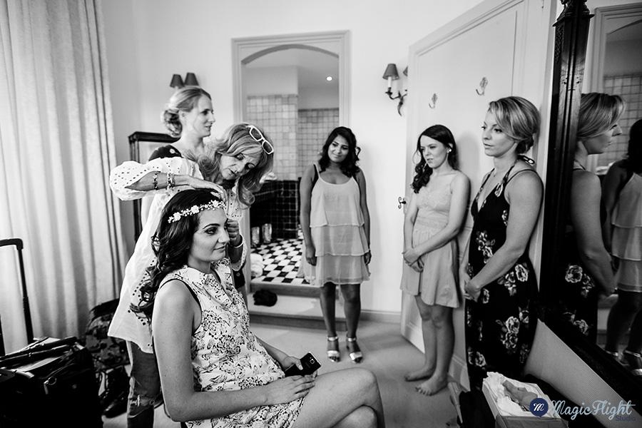 reportage de mariage au mas de montet en Dordogne