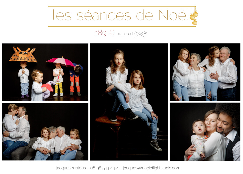 une séance photo en studio à l'occasion de Noel