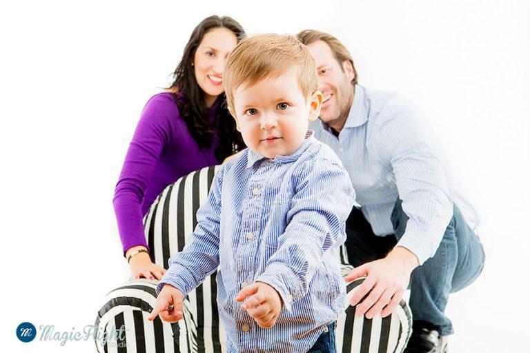 Portrait d'enfant en famille 3