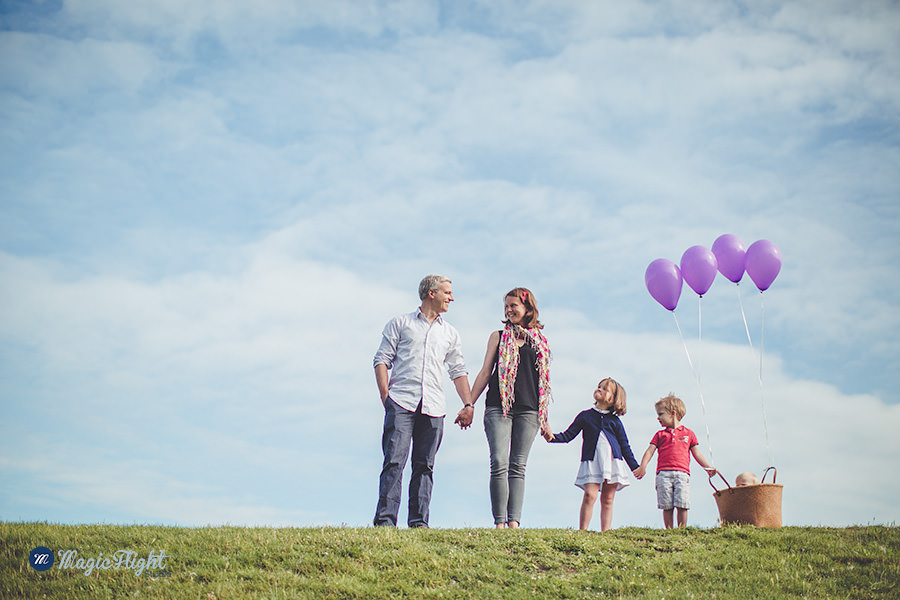 photos de famille en exterieur au parc