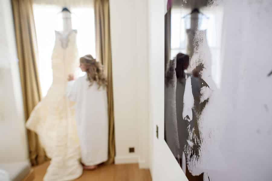 mariage intime à hotel marignan et église américaine