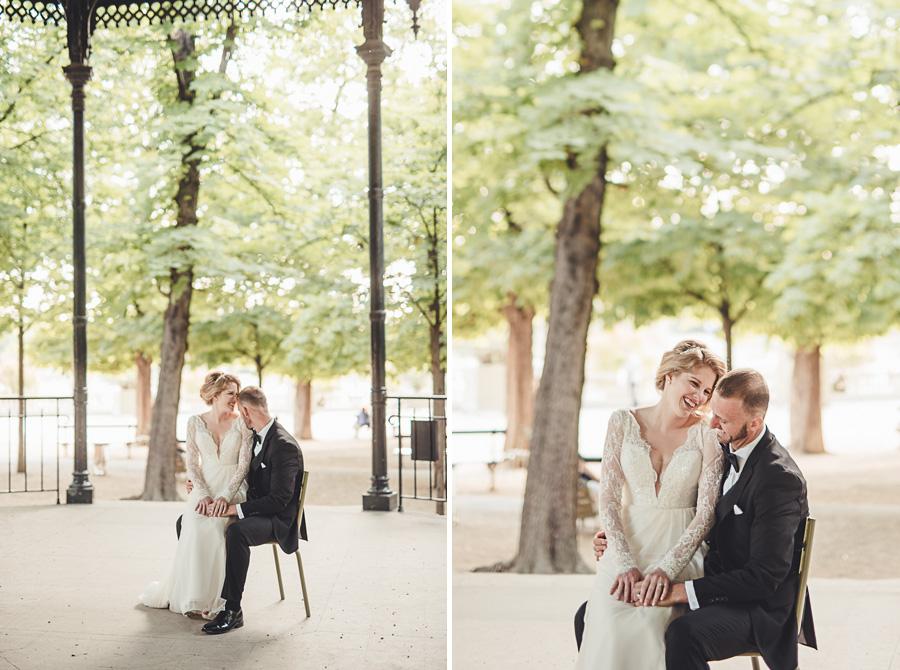 Mariage très intime à Paris 8