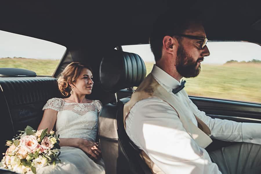 une jolie Mustang pour la mariée