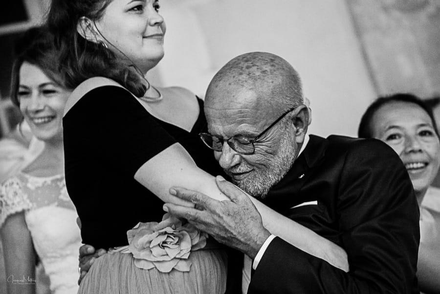 émotion du papa de la mariée