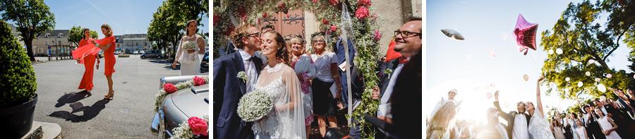 la famille pendant un mariage