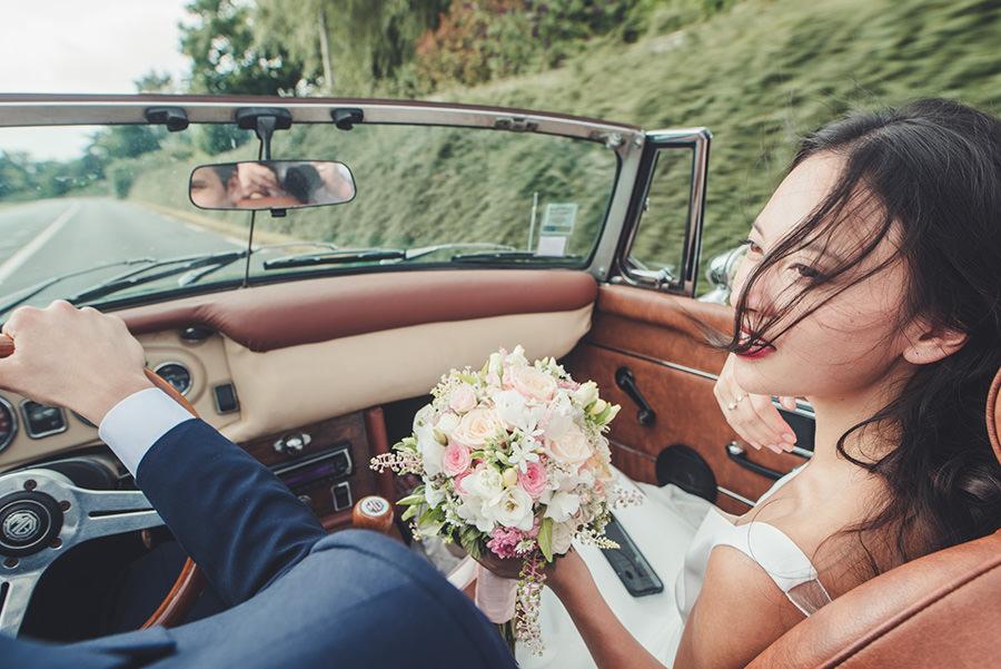 mariage balade en voiture meridon