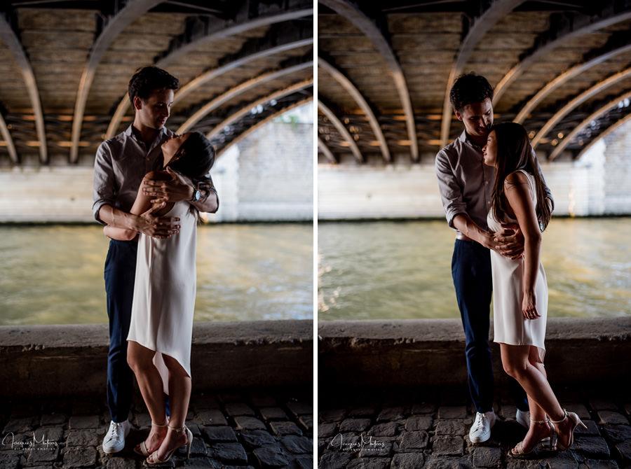 séance photos couple avant mariage avec Notre dame