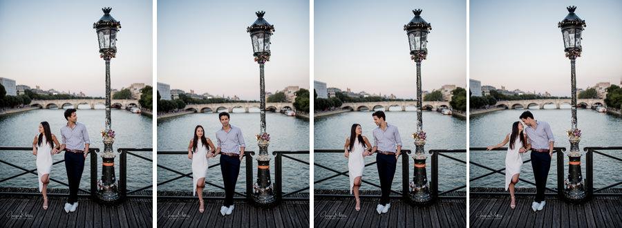 photos couple avant mariage au pont des arts