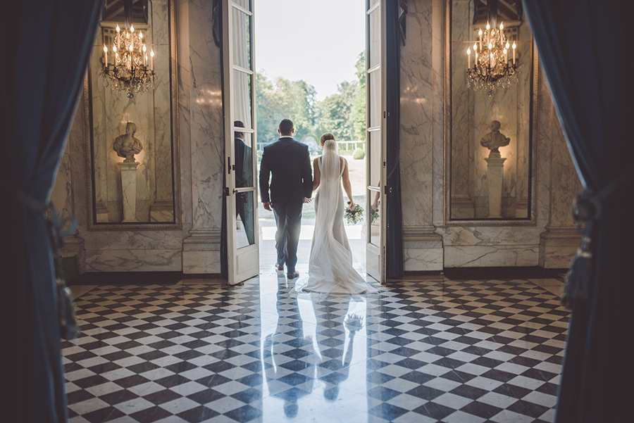 mariage intime au pavillon de musique, Louveciennes