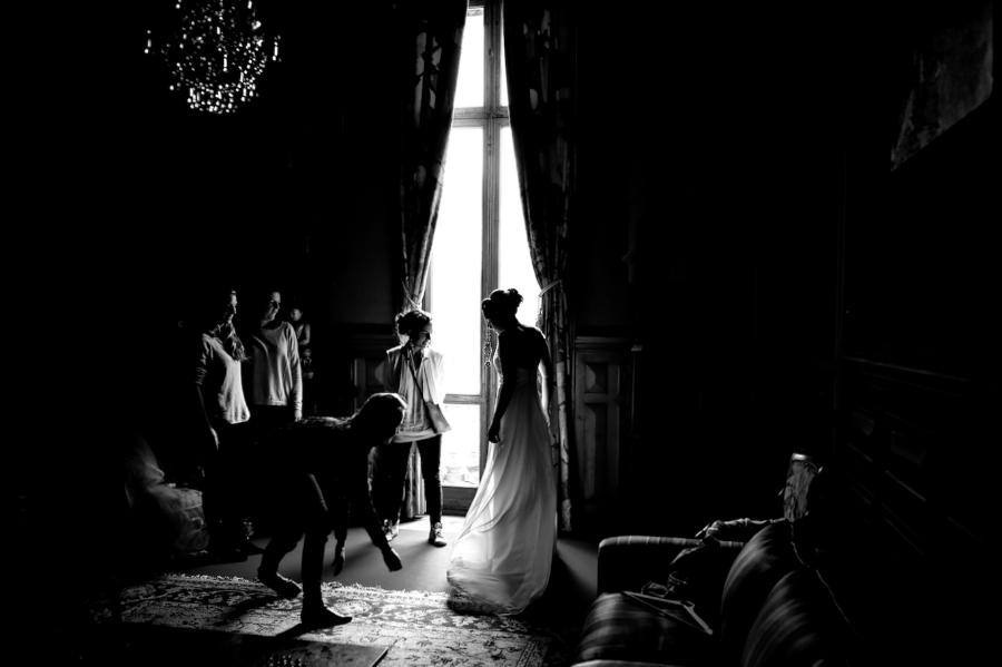 préparation de mariage au château
