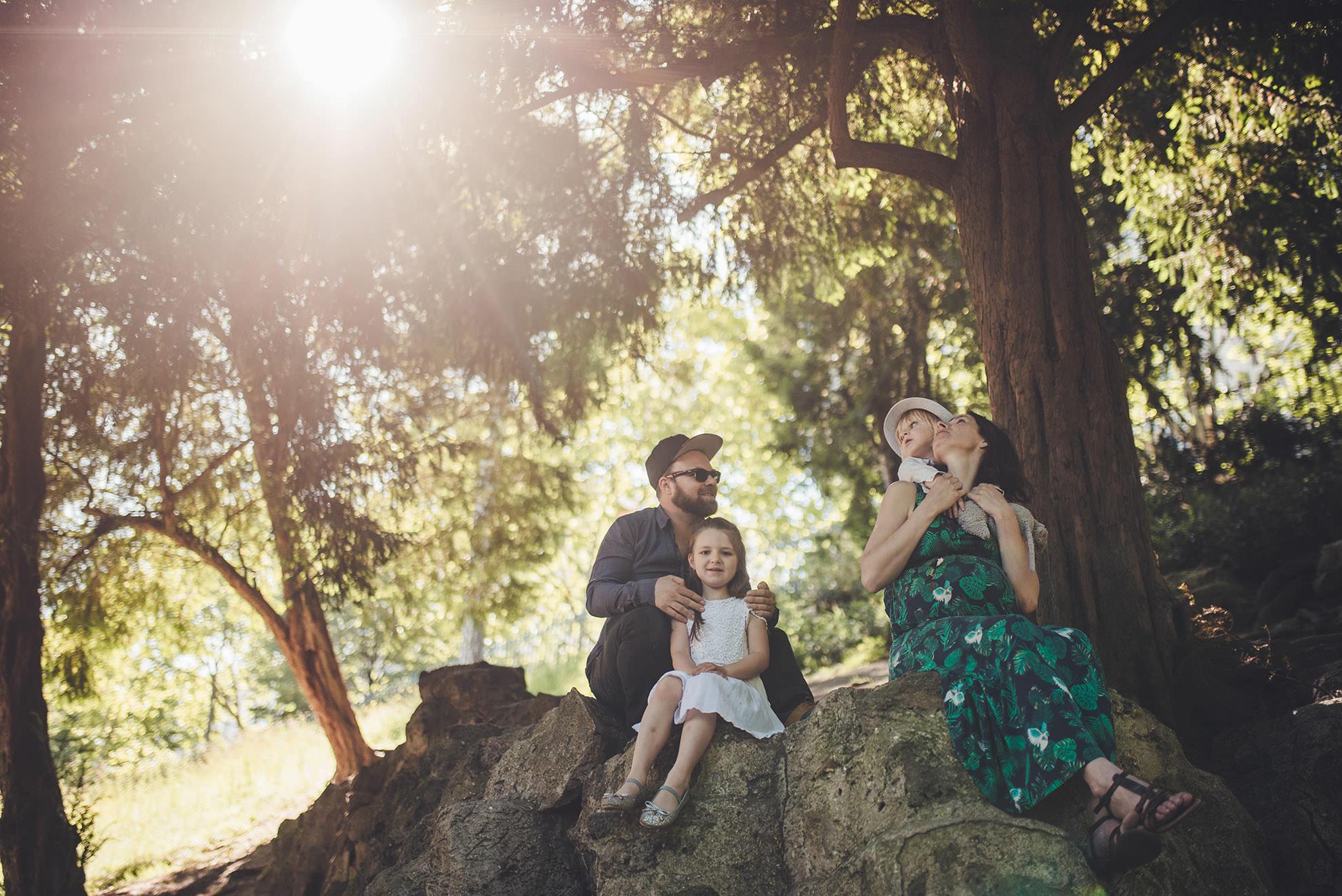 séance photos de famille en extérieur