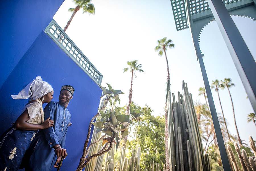 Photos de couple au Jardin Majorelle | Marrakech 5