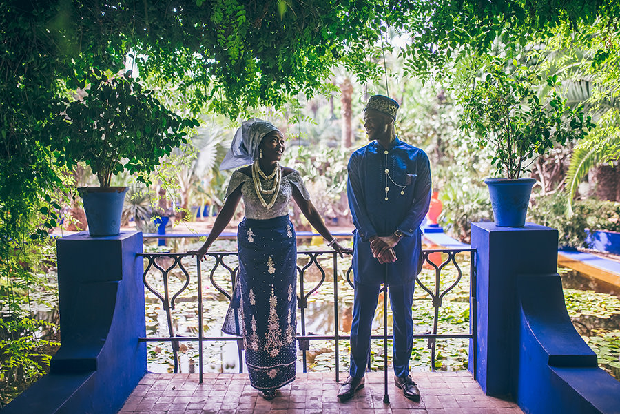 Photos de couple au Jardin Majorelle | Marrakech 7