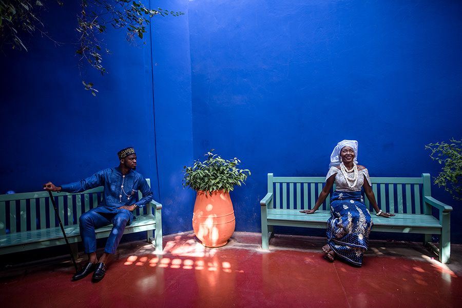 Photos de couple au Jardin Majorelle | Marrakech 9