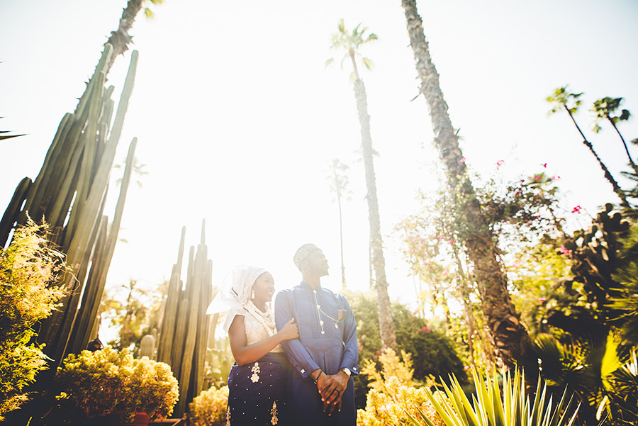 Photos de couple au Jardin Majorelle | Marrakech 12