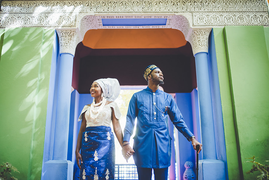 Photos de couple au Jardin Majorelle | Marrakech 14