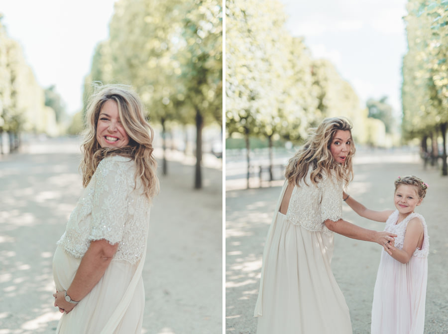 photo de coiffure et robe mariage