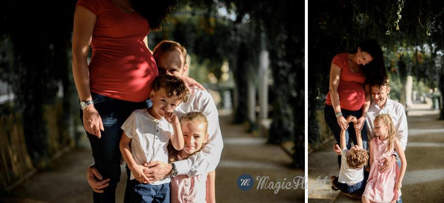 photo femme enceinte en famille