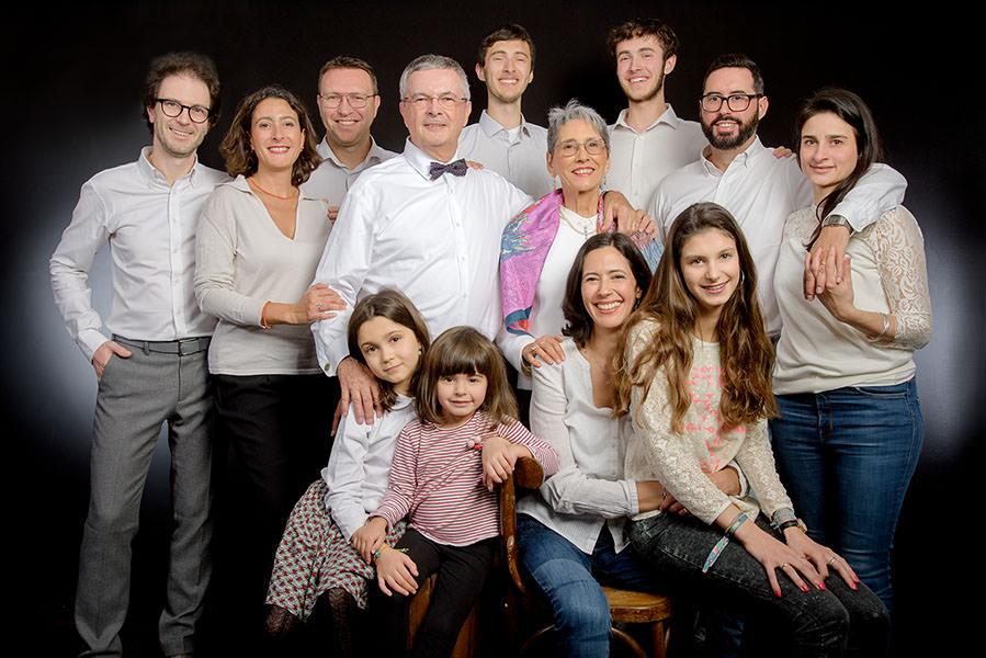 Photos de famille à plusieurs générations